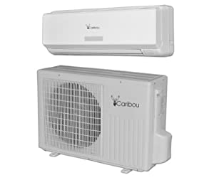 Mini Split Air Conditioner - Ductless Heat Pump - Do It Yourself 12000 BTU (1 Ton) System for Cooling & Heating By Caribou. A True Wall Ac Unit System That Is Easy to Install Yourself. No Vacuum Needed! Loaded with 20 Feet of Pre-charged Line Sets & Unique Commercial Quick Connection. 110~120 Vac