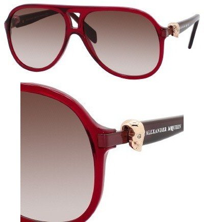 Alexander McQueen 4179 WD0 K8 Red 4179 Aviator Sunglasses