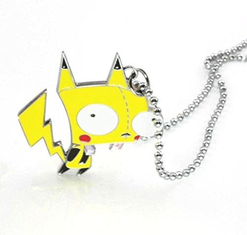 Invader Zim Alien Gir Robot Glitter Pikachu Gir Pendant Necklace - 1