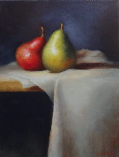 Fine Art Still Life Painting, titled Pears