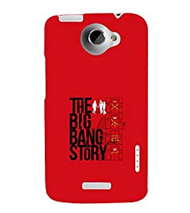printtech Big Bang Story Quote Back Case Cover for HTC One X