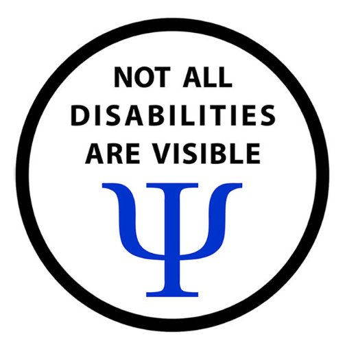 Not All Disabilities Are Visible Service Dog 4 Inch Black Rim Hook Velcro Patch