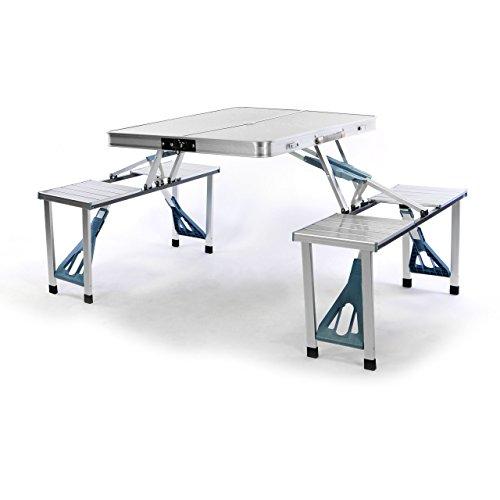 Sitzgruppe-Camping-Aluminium-Tisch-4-Hocker-Stuhl-Party-klappbar-Koffergarnitur-Klappgarnitur-Picknicktisch-wetterfest