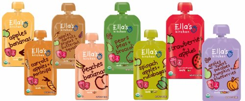 Ella'S Kitchen Organic Stage 1 Baby Food 8-Flavor Variety Pack (8 Total Pouches)