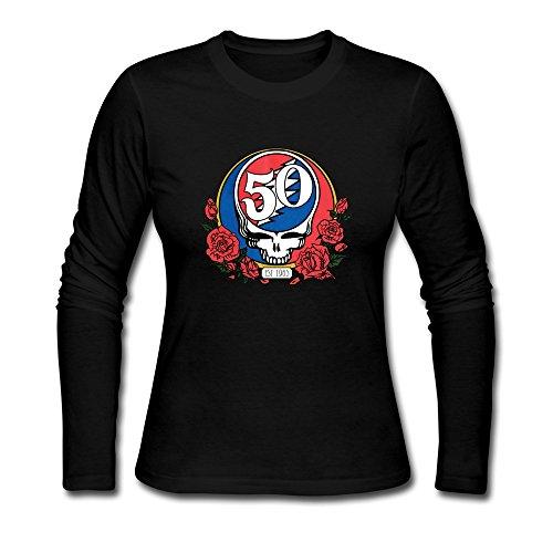 Memery, dicono le donne s Grateful Dead Skull Roses & 50th Tshirts nero XXL