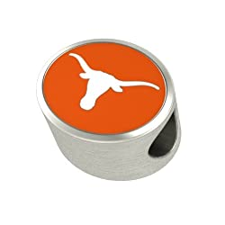 Texas Longhorns Enameled Charms Fit Most Pandora Style Charm Bracelets