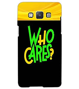 SAMSUNG GALAXY A5 WHO CARES Back Cover by PRINTSWAG