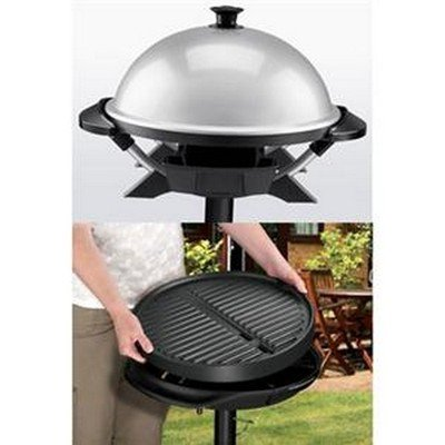 George Foreman GGR200RDDS Round Indoor/Outdoor Electric Grill