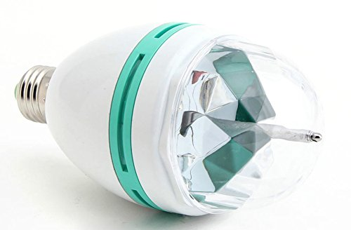Amaranteen - Full Color 3W E27 Rgb Led Crystal Stage Light