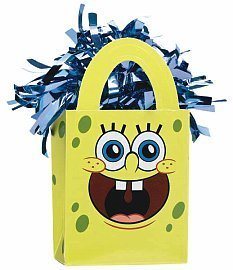 Sponge Bob Mini Tote Balloon Weight - 5.5 In. x 3 In. Each [Toy] [Toy] - 1