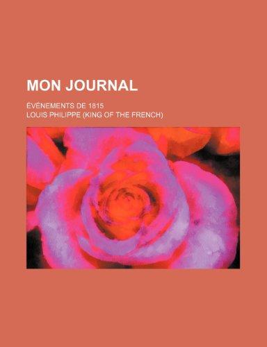 Mon Journal (2); Événements de 1815