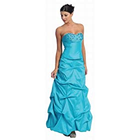 Strapless Junior Prom Dress Long Gown #2501