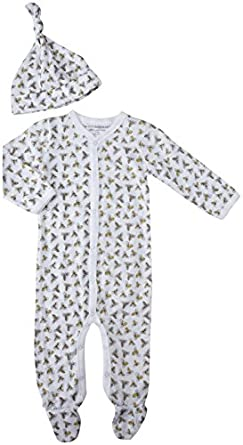 Burt's Bees Baby Baby Boys' Coverall And Hat Set (Baby) - Multi
