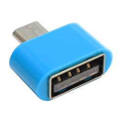 PRAVARA Top Selling Stylish Cute Little Adapter Micro USB OTG to USB 2.0 Adapter for Smartphones & Tablets (Blue)