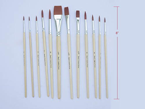 Good Brand Acrylic Paint Brushes Natural Or Synthetic