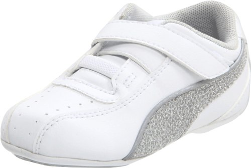 Puma Tallula Glamm V Fashion Sneaker (Toddler/Little Kid/Big Kid),White/Puma Silver/Gray/Violet,8 M US Toddler