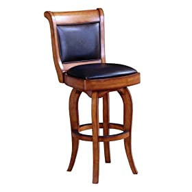 Berkline Family Dining Rustic Oak 30-Inch York Swivel Barstool
