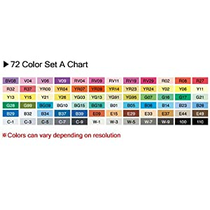 Copic Marker 72-Piece Sketch Set A (Color: Multi, Tamaño: 72PC SKETCH SET A)