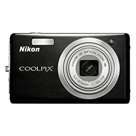 Nikon Coolpix S560 10MP Digital Camera with 5x Optical Vibration Reduction (VR) Zoom with 2.7 inch LCD (Graphite Black)