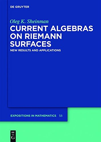 Current Algebras on Riemann Surfaces: New Results and Applications (De Gruyter Expositions in Mathematics)