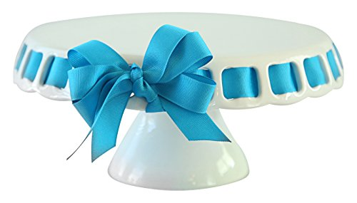 Prissy Plates Round Cake Plate, Small, White (Cake Stand With Ribbon compare prices)
