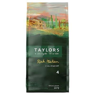 Taylors of Harrogate Rich Italian Coffee Roast & Ground Dark Roast 227g Ref 3676 by Bettys & Taylors