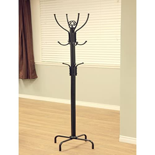 Frenchi Home Furnishing 12-Hook Metal Coat Rack, Black