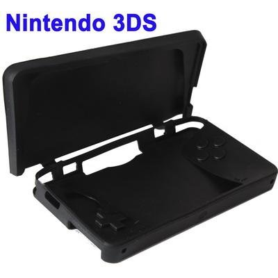 Black Silicone Silicon Protective Cover Case Sleeve for Nintendo 3DS