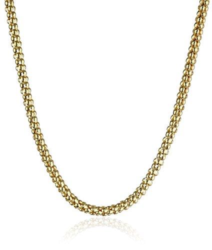 14k Yellow Gold Italian 2.50mm Popcorn-Chain Necklace, 18