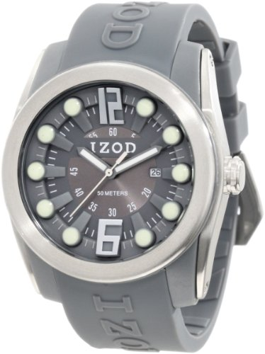 IZOD Men's IZS1/6 GREY Sport Quartz 3 Hand Watch