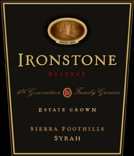 2010 Ironstone Reserve, Sierra Foothills, Estate Grown, Syrah 750 Ml