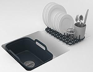 Joseph Joseph Wash & Drain Plus Dishpan and Dish Rack Utensil Holder Set