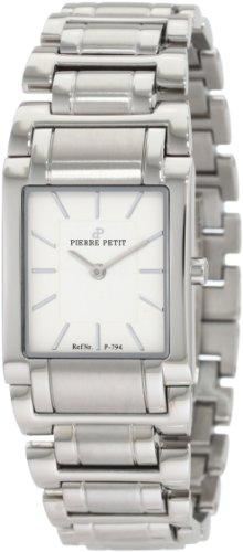 Pierre Petit P-794B - Reloj analógico de cuarzo para mujer con correa de acero inoxidable, color plateado