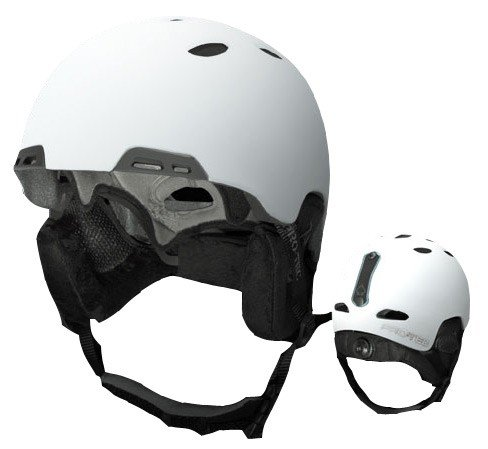 Protec Winter Helm 'Vigilante Matte White', Größe:L