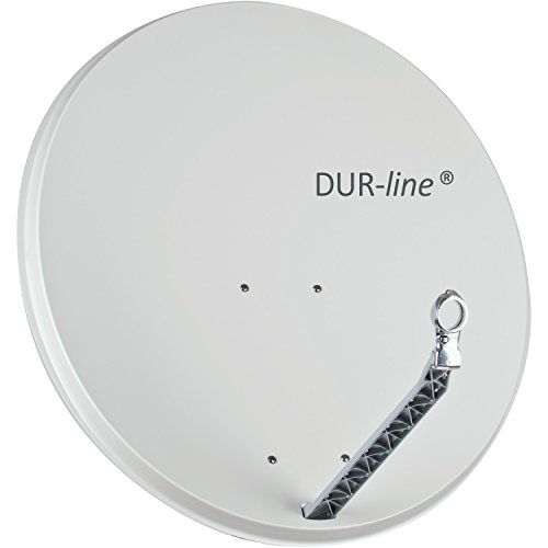DUR-line SELECT 85/90cm Hellgrau - Aluminium Satellitenschüssel Parabolantenne