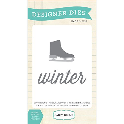 Carta Bella Paper Company Winter Skate Die Set