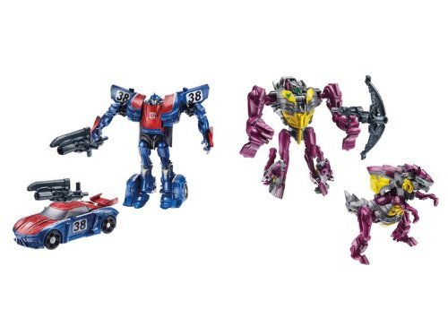 Transformers Beast Hunters Predacons Rising Cindersaur and Smokescreen 2 pack...