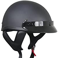 Outlaw Solid Flat Black Half Helmet - Large from Outlaw Helmets