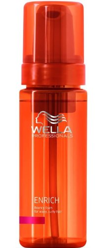 wella professionals care enrich bouncy foam f r welliges lockiges haar 150ml. Black Bedroom Furniture Sets. Home Design Ideas