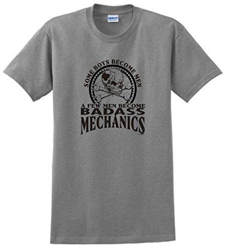 Created Equal, A Few Men Become Mechanics T-Shirt 3Xl Sport Grey