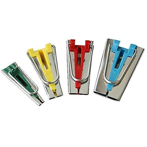Musuntas Lot de 4 appareils à biais / bandes de tissus de tailles différentes 6mm 12mm 18mm 25mm