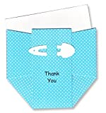 Aqua Dots Diaper Thank-you Cards - Set of 10