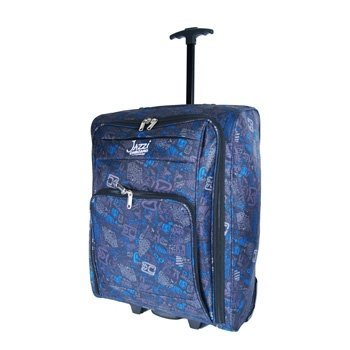 """Womens and Mens Girls (21"""" 55cm X 40cm X 20cm STYLISH ONBOARD HAND LUGGAGE CABIN HOLDALL WHEELED TRAVEL BAG SUITCASE , suitable for Ryanair, Easyjet, BMI, BA, Virgin (55 x 40 x 20 cm) Due to its lightweight construction and sensible size it makes a perfec"""
