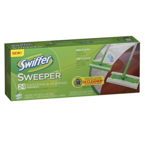 Swiffer Sweeper 2 In 1 Mop And Broom Floor Cleaner Starter Kit (Dry Cleaner Starter Kit compare prices)