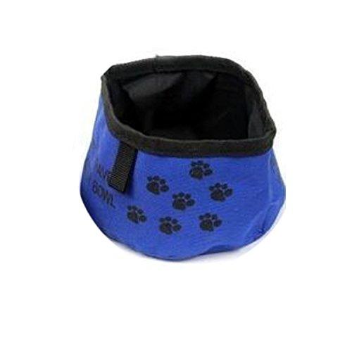 Artikelbild: NK store Mode tragbare Falten Haustier Wasser Reise Schüssel für Hunde Katze schöne Fußabdruck Futter Getränk Hund Katze Produkte,bleu
