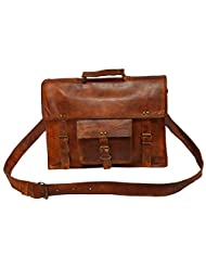 Real Leather Vintage Messenger Satchel Bag Briefcase With Laptop Protection(DR028AC)