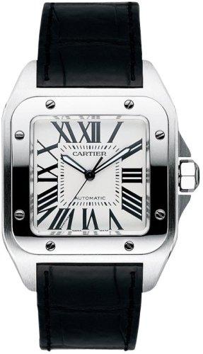 Cartier Mens Santos 100 XL Automatic Watch W20073X8 Wrist Watch (Wristwatch)