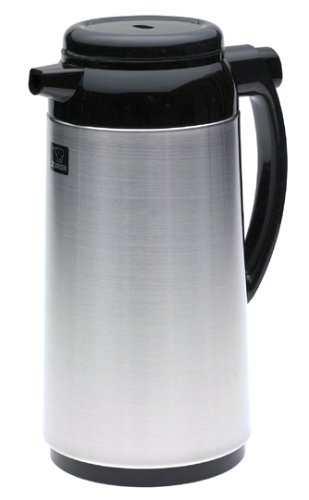 Zojirushi Premium Thermal 1-Liter Carafe, Brushed Stainless Steel front-587232