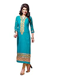 Chandni Chowk Cotton Semi Stiched Salwar Suit - B01994RLY0