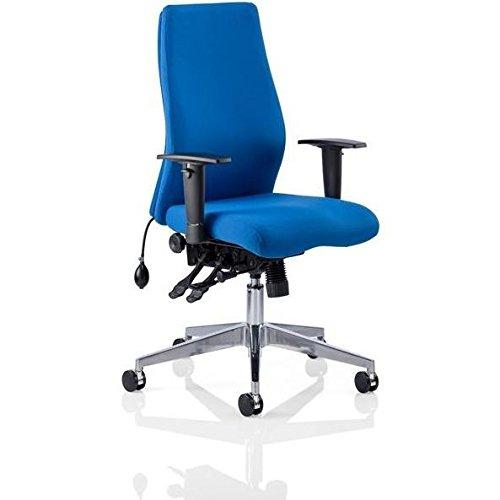 dinamica OP000097Onyx Ergo Fabric posture sedia con braccioli, colore blu